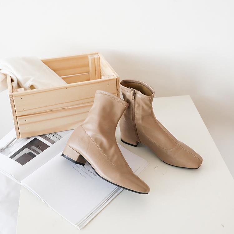 奶茶色 奶茶靴 奶茶色鞋子奶茶短靴 短靴 襪靴