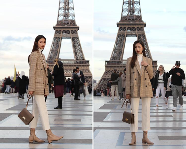 奶茶色 奶茶靴 奶茶色鞋子穿搭 奶茶短靴 西裝外套穿搭 西裝外套女