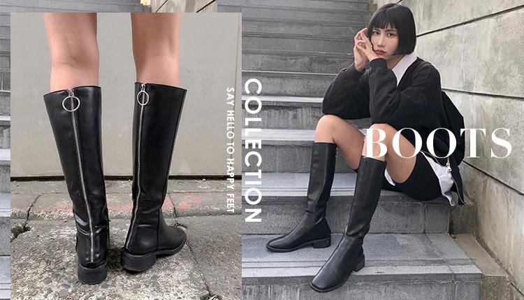 D+AF 靴子 膝下靴 長靴 皮革靴 絨料靴 馬汀靴 秋冬靴款