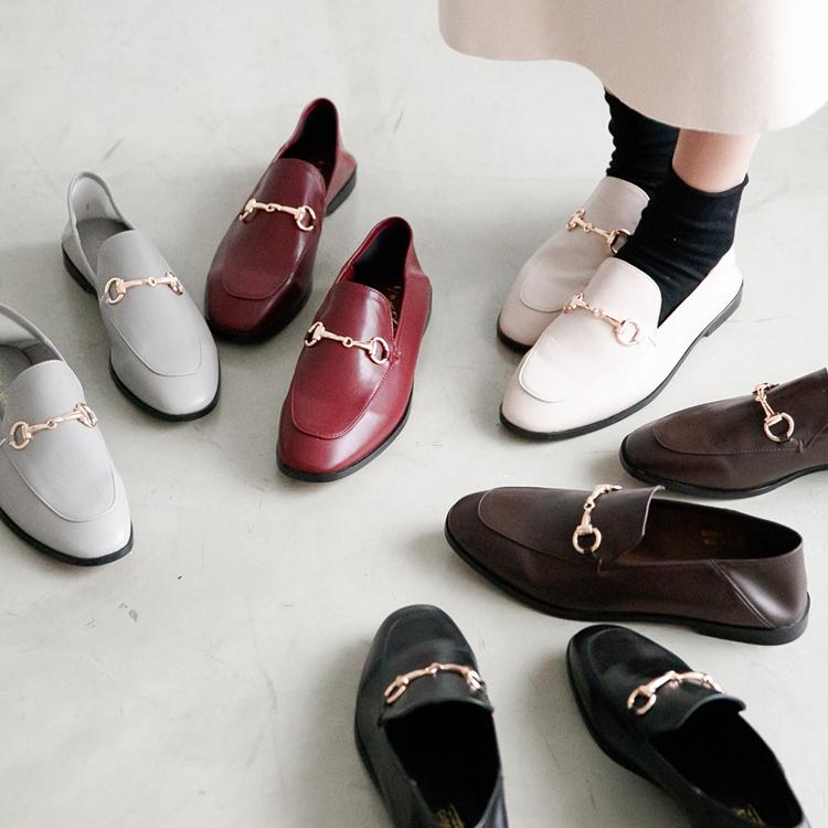 厚片女孩穿搭兩穿設計樂福鞋