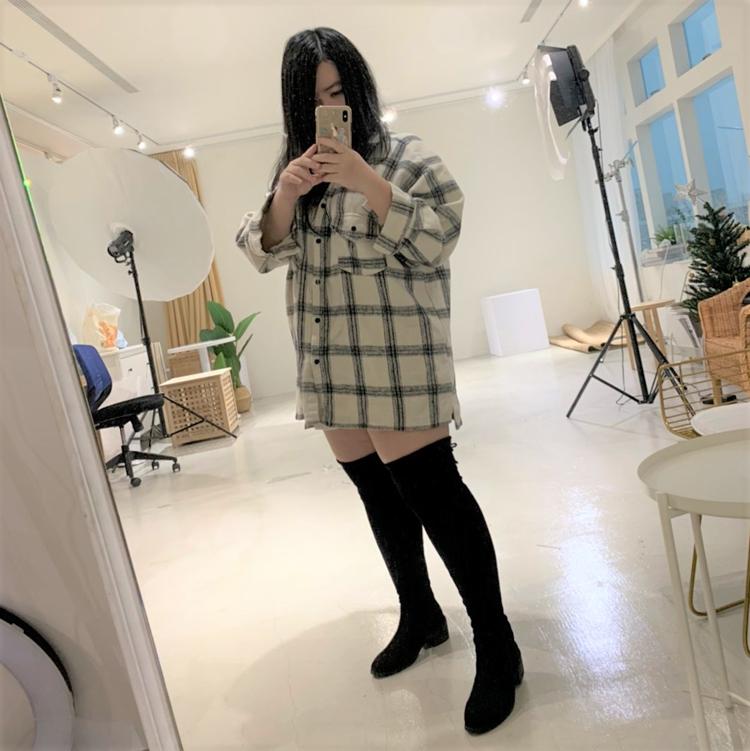 熊貓小編穿搭 棉花糖女孩穿搭 肉肉腿顯瘦膝上靴穿搭