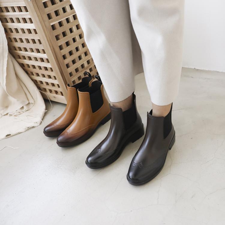 D+AF 仿舊刷色chelsea boots切爾西雨靴