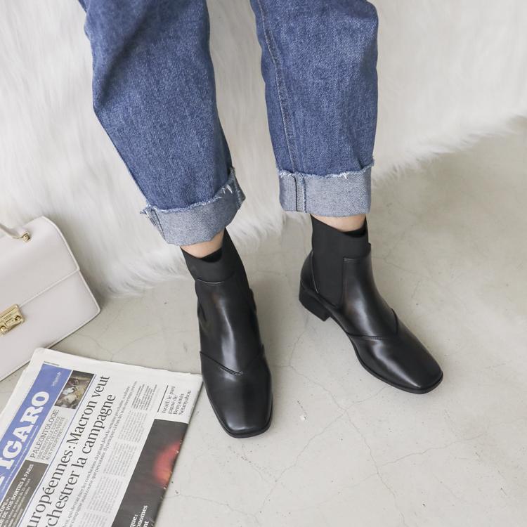 D+AF 寬褲搭配切爾西靴