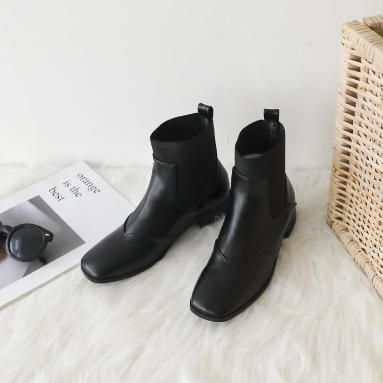 D+AF 百變拼接chelsea boots切爾西靴