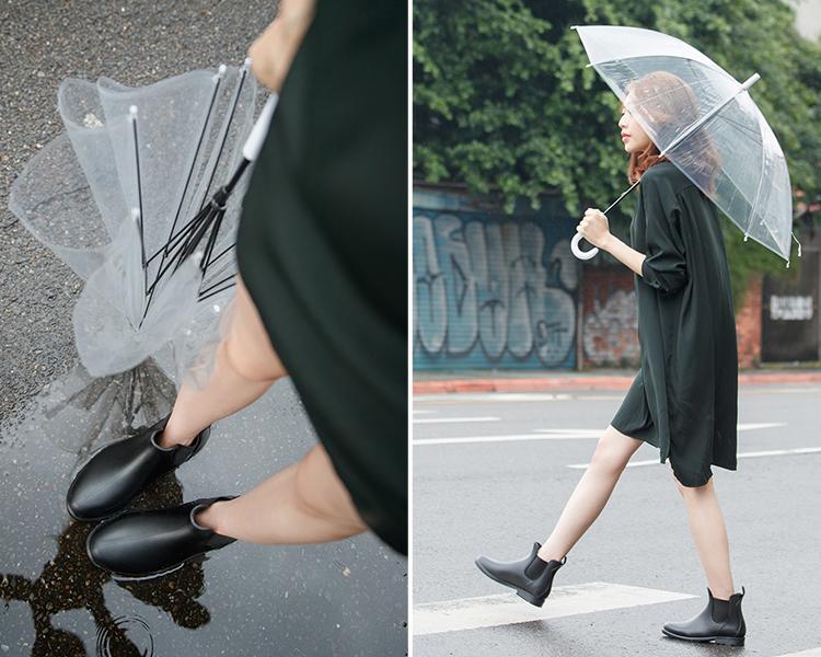 下雨天穿搭 逸歡_Clina雨靴穿搭 雨靴推薦