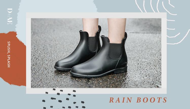 D+AF 雨鞋 靴子 雨靴 雨靴穿搭 雨鞋穿搭 雨靴推薦 雨靴女