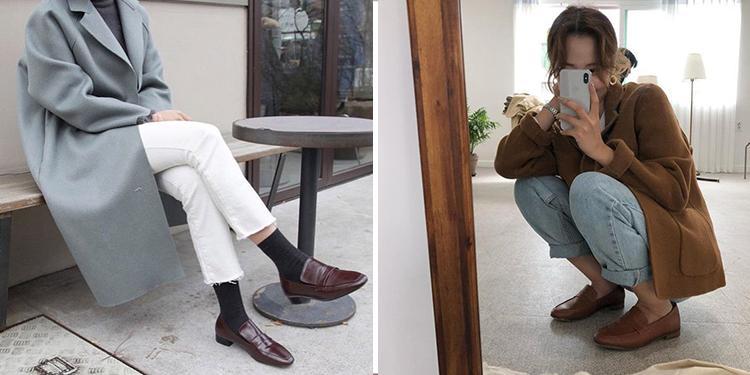 韓國穿搭 韓國秋冬穿搭  樂福鞋 西裝外套
