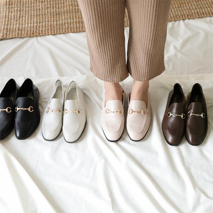 D+AF馬銜釦後踩式二穿紳士便鞋 樂福鞋推薦 樂福鞋女