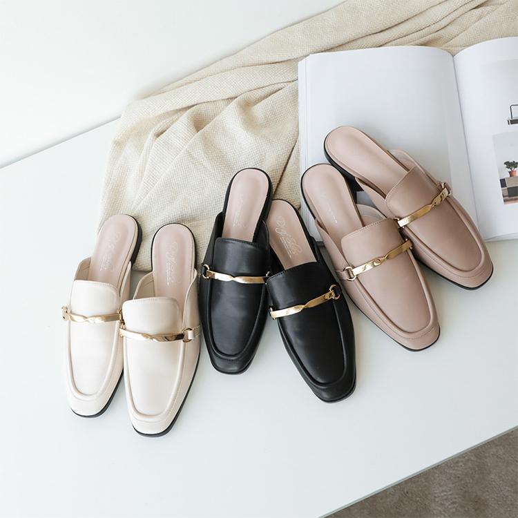 D+AF麥穗流蘇平底穆勒鞋 穆勒鞋 穆勒鞋穿搭 早春穿搭 早春流行