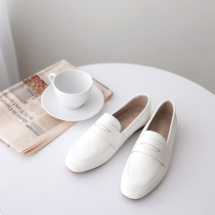 小白鞋 樂福鞋 白色 白鞋 白色樂福鞋