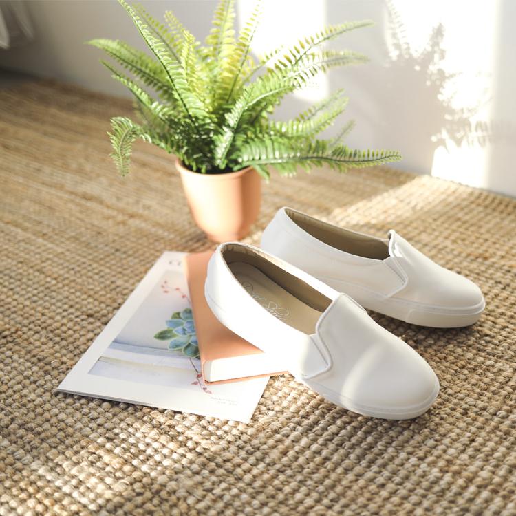 小白鞋 懶人鞋 MIT 休閒鞋 白鞋 白色懶人鞋