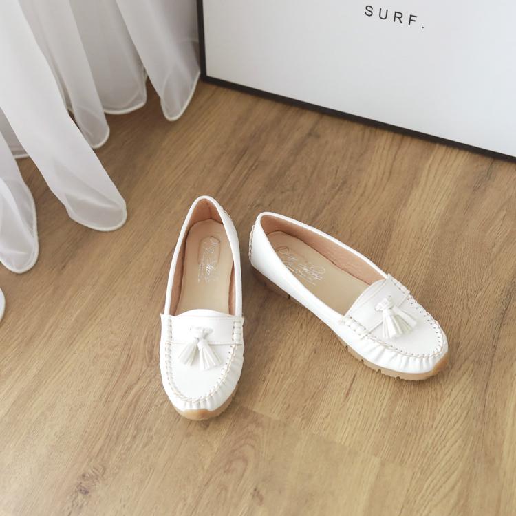 小白鞋 豆豆鞋 健走鞋 MIT 白鞋 白色豆豆鞋
