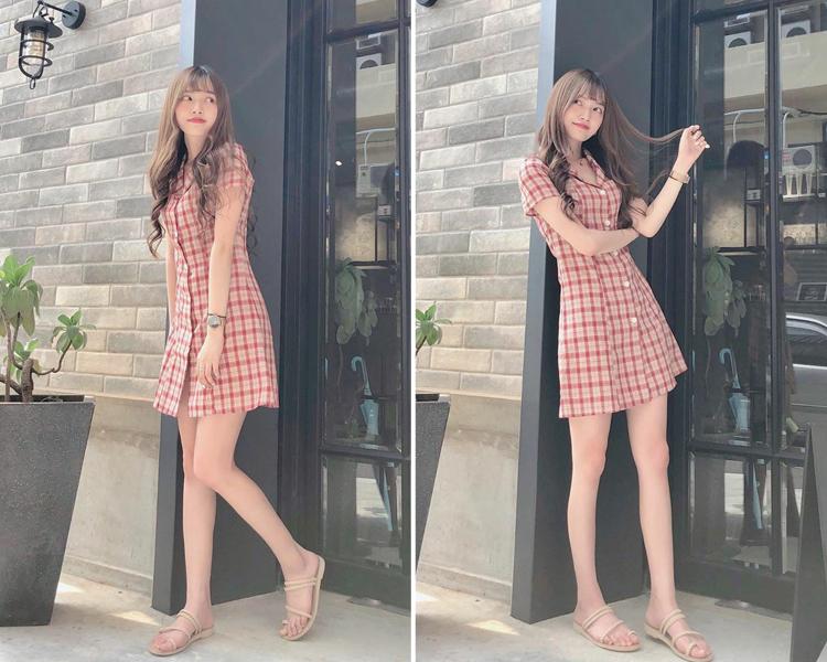 可愛甜美風穿搭 麻辮編織平底涼鞋 連身洋裝穿搭