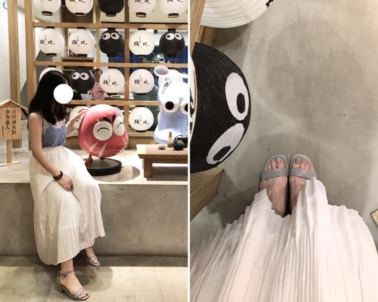 百褶裙涼鞋穿搭 簡約色調涼鞋穿搭 上窄下寬穿搭法 小編穿搭