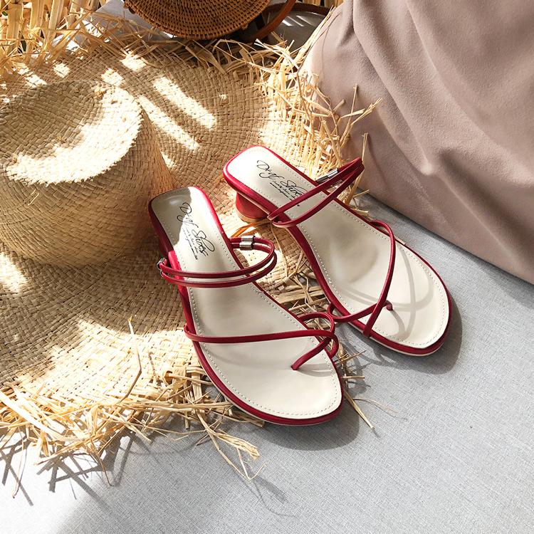 套趾涼鞋 二穿法涼鞋 圓跟涼鞋 春夏涼鞋穿搭