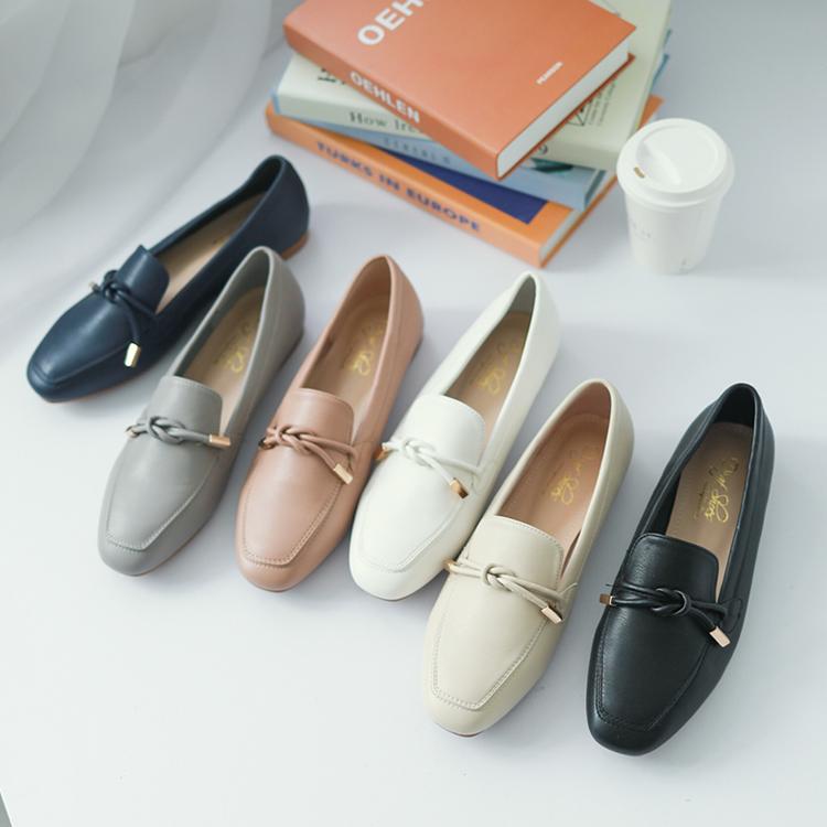 小金飾綁結柔軟樂福鞋