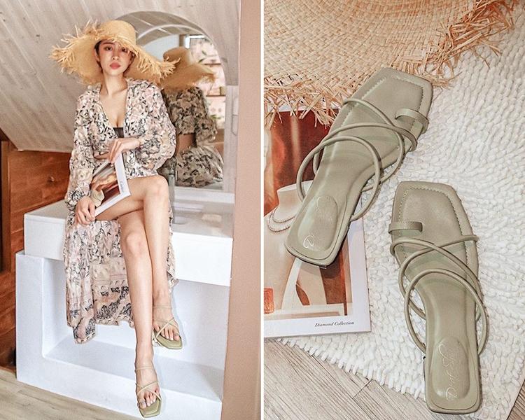 韓國夏天流行鞋款 套指交叉涼鞋穿搭