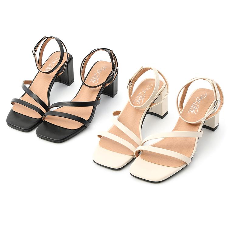 D+AF繫踝高跟涼鞋 大腳女孩涼鞋推薦清單 大尺碼涼鞋推薦