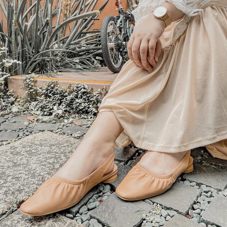 D+AF 大腳女孩(大尺碼女鞋)推薦 抓皺娃娃鞋 後空娃娃鞋
