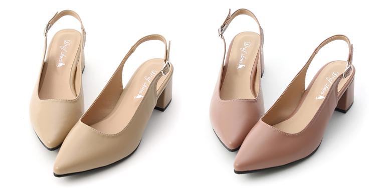 D+AF 大腳女孩首選OL鞋 台灣製造後空跟鞋