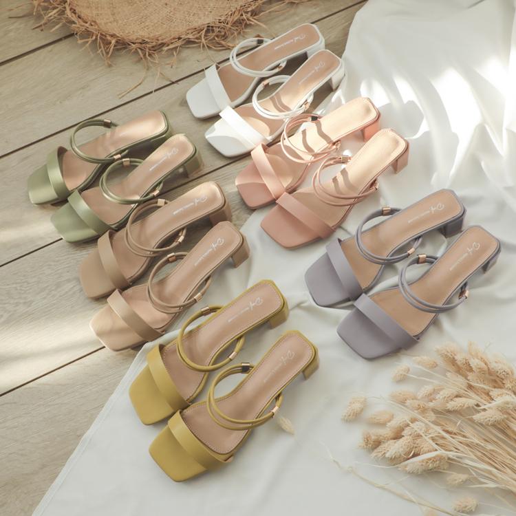 D+AF 一鞋多穿美鞋推薦 兩穿涼鞋 二穿法一字涼鞋
