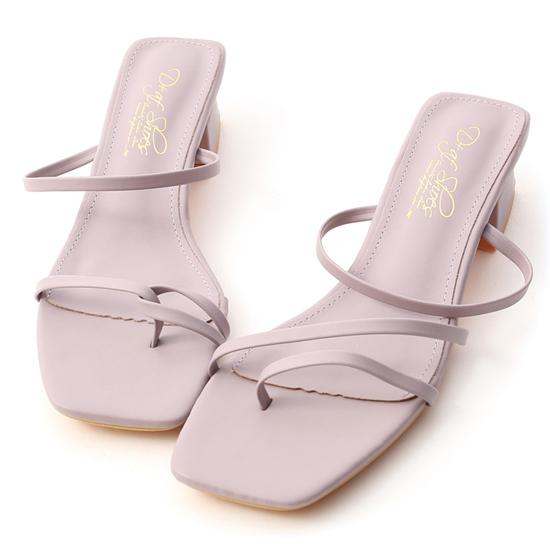 不對稱設計低跟涼鞋 紫色涼鞋推薦