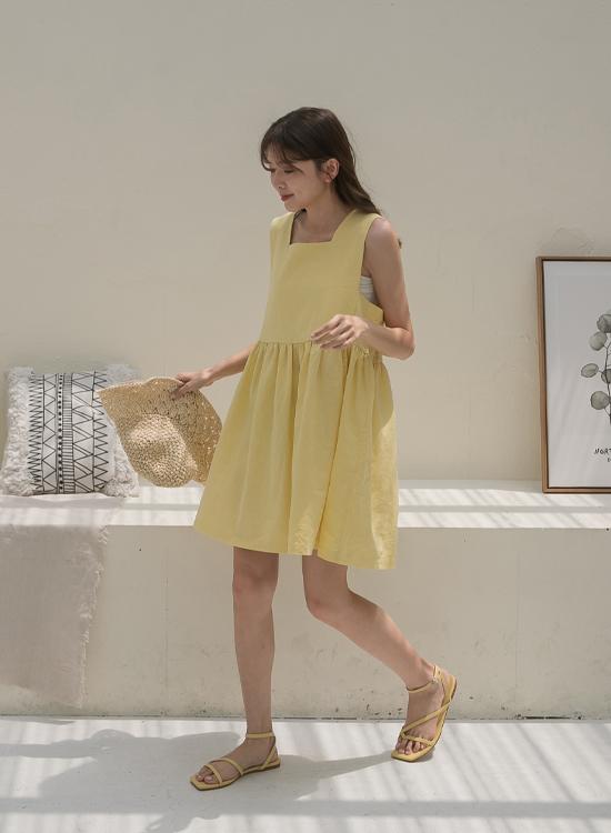 黃橘色涼鞋穿搭 黃色涼鞋