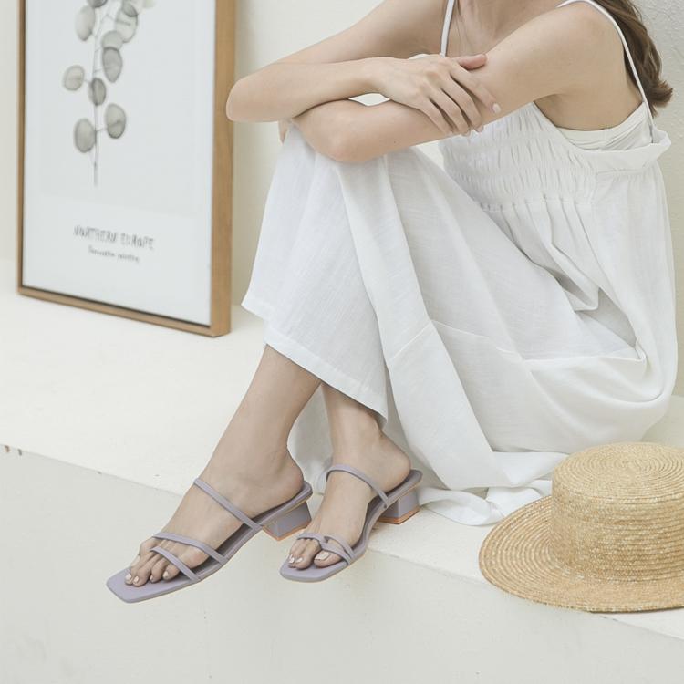 藍紫色涼鞋穿搭 紫色涼鞋