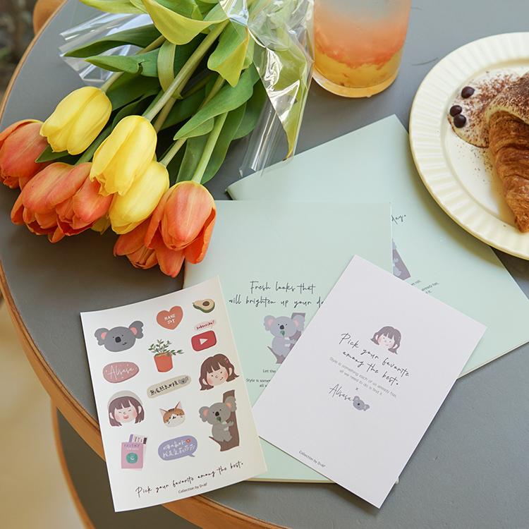 D+AF X 愛莉莎莎Alisasa 手繪無尾熊系女孩限量贈品