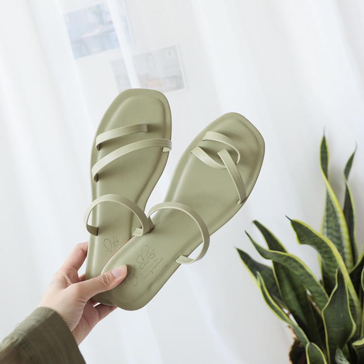 大尺碼涼鞋/拖鞋推薦  大尺碼平底綠色拖鞋涼鞋 41、42碼