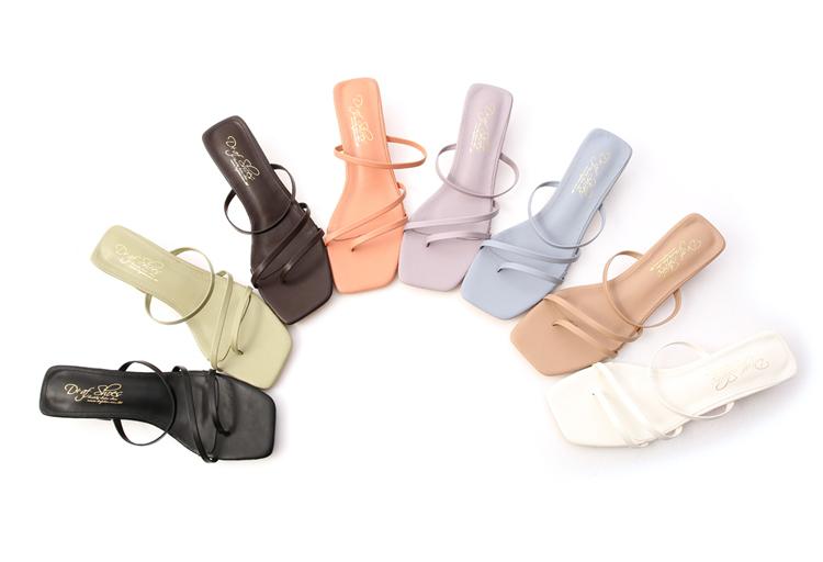 大尺碼低跟涼鞋拖鞋穿搭推薦41、42碼 多色可選