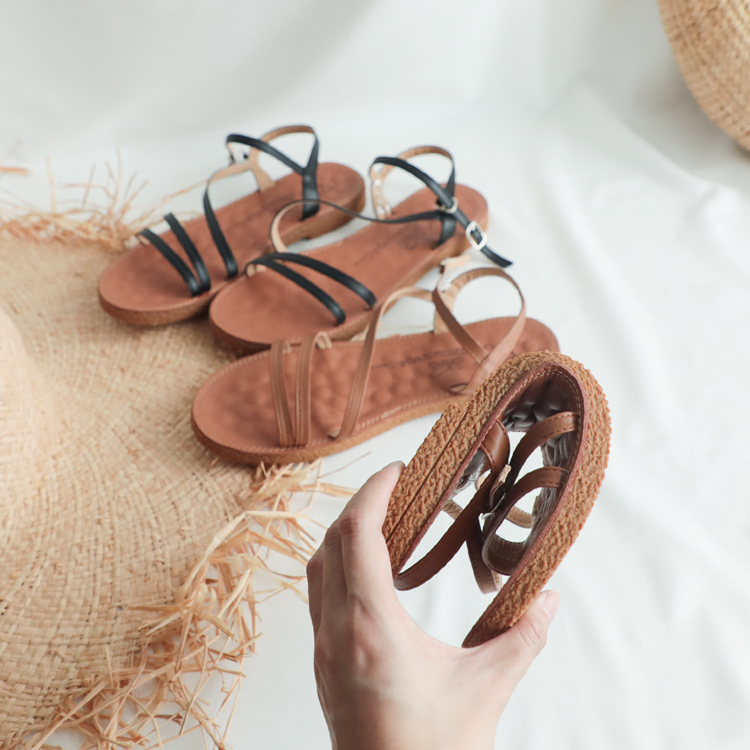 大尺碼平底涼鞋推薦41、42、43碼 可彎折 Q軟 好穿大尺碼涼鞋