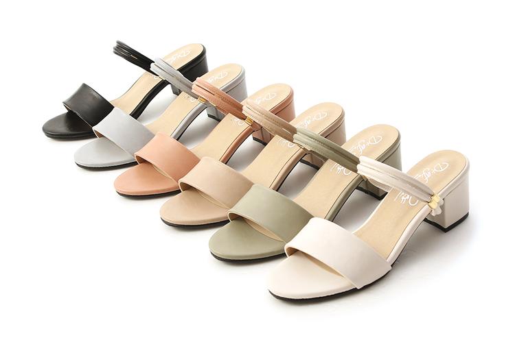 大尺碼兩穿涼鞋推薦41、42、43碼 台灣製造大尺碼中跟涼鞋 多色可選