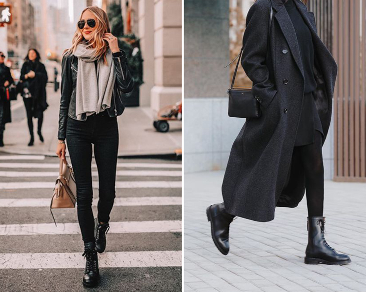馬汀靴穿搭 黑色系穿搭