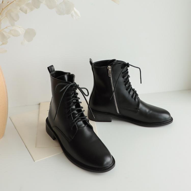 D+AF 紳士帥氣綁帶靴 綁帶短靴 金屬綁帶靴