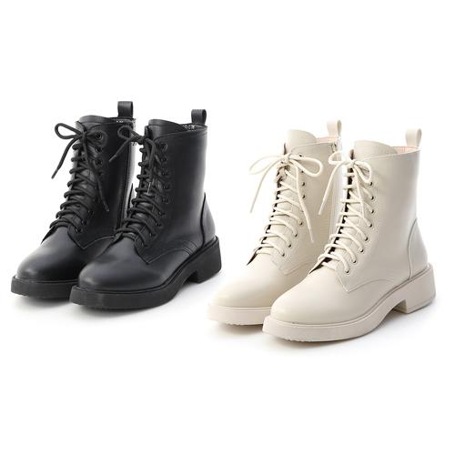 加厚鞋底中筒馬汀靴穿搭 黑色馬丁靴 白色馬丁靴