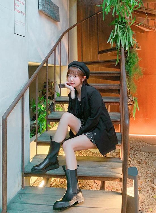 @angelhong加厚鞋底切爾西中筒靴穿搭 黑色切爾西靴穿搭