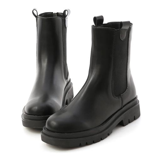 加厚鞋底切爾西短靴 黑靴