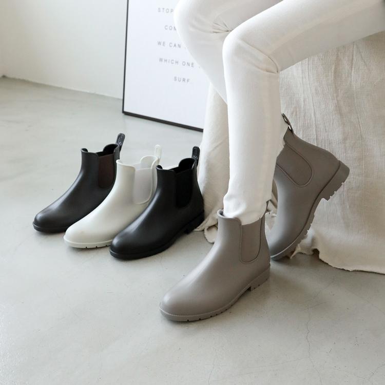 晴雨二穿.側鬆緊切爾西短雨靴 防水靴 多色可選