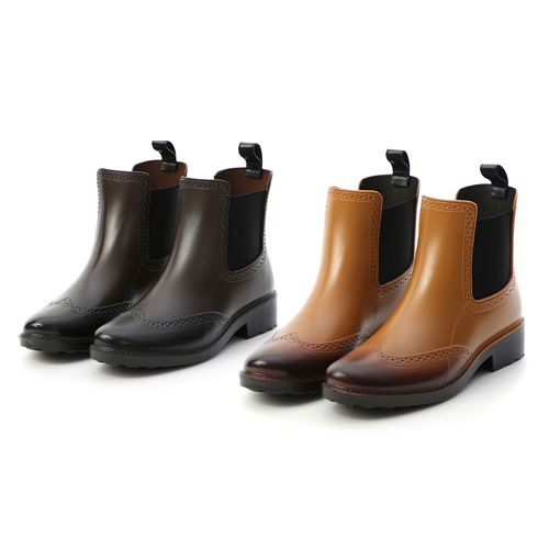 仿舊刷色切爾西雨靴 兩色可選