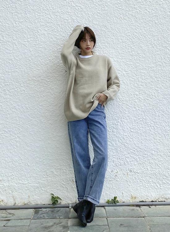 D+AF 獨特宣言.雙摺線設計低跟襪靴 宥囷韓系穿搭