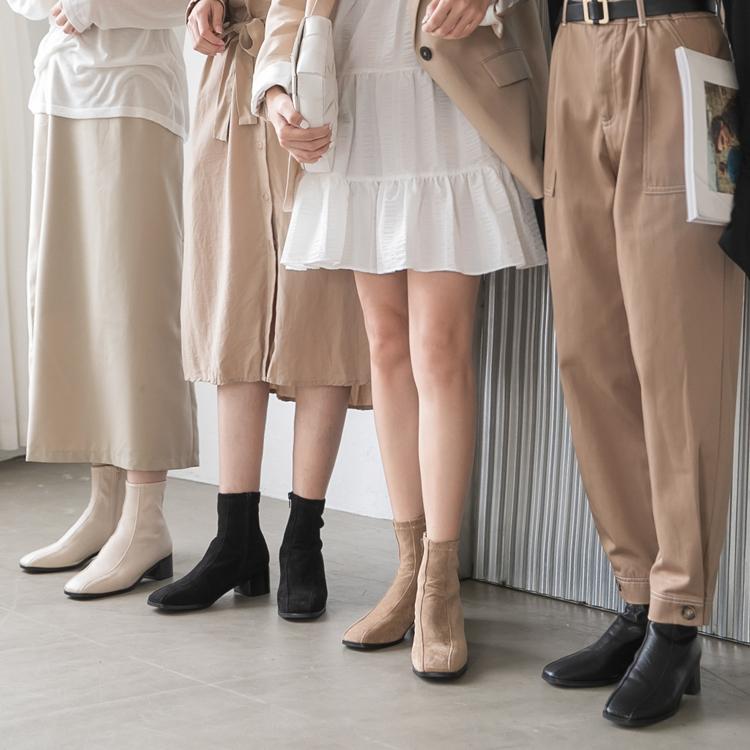D+AF 獨特宣言.雙摺線設計低跟襪靴 小編實穿