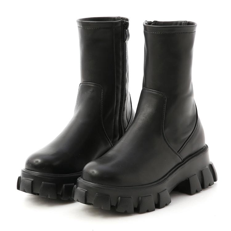 超輕量素面鋸齒靴