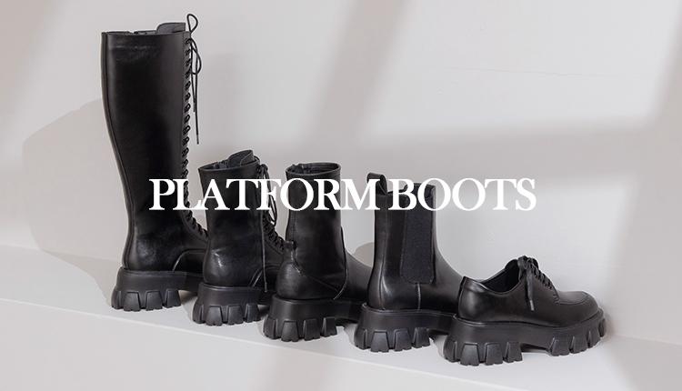 增高效果滿分!!用厚底靴打造份量感十足的率性穿搭