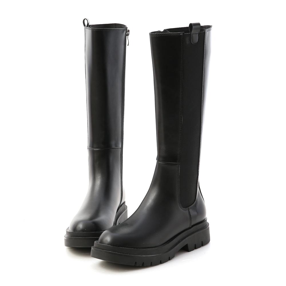 D+AF加厚鞋底切爾西長靴 厚底靴