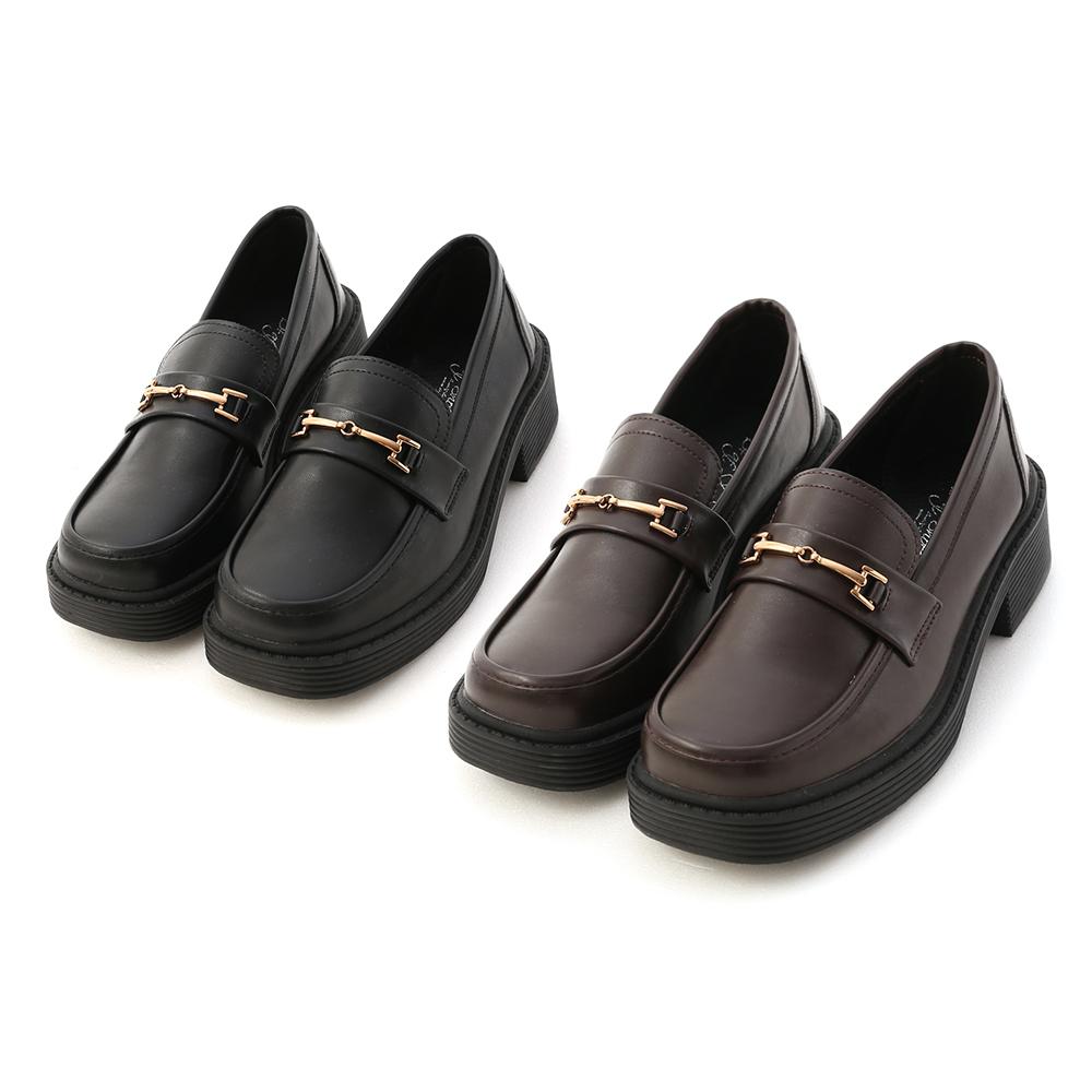 D+AF馬銜釦加厚底樂福鞋 厚底鞋