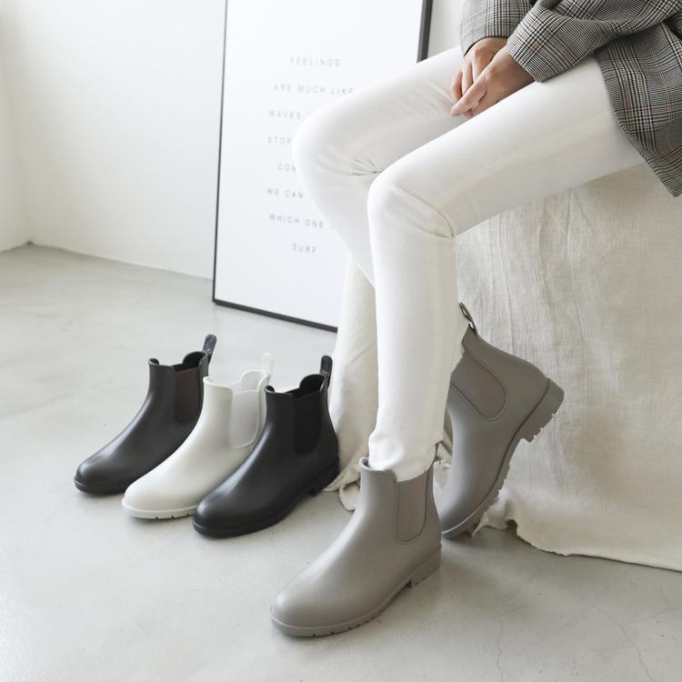 晴雨二穿.側鬆緊切爾西短雨靴