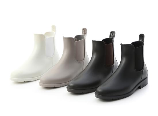 側鬆緊切爾西短雨靴 切爾西靴 白靴 黑靴 咖啡色靴 灰色短靴 防水雨靴