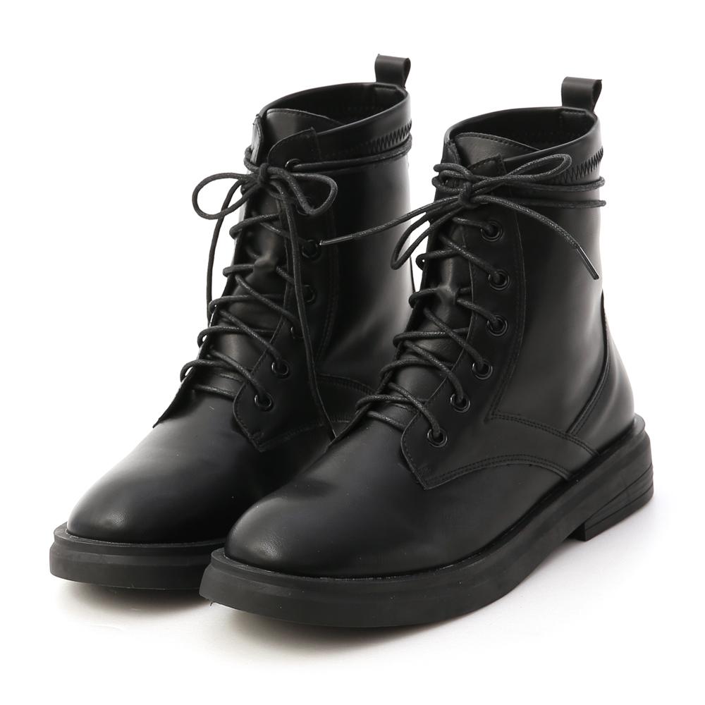 D+AF綁帶造型馬汀短靴 軍靴