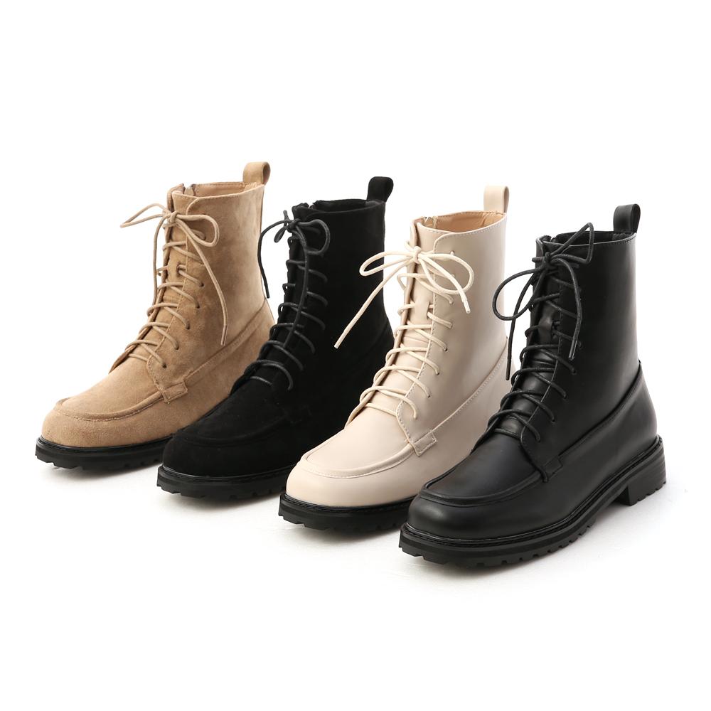 D+AF英式風格綁帶短靴 軍靴